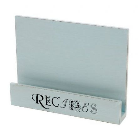 Blue Wooden Kitchen Recipe Book Stand Holder